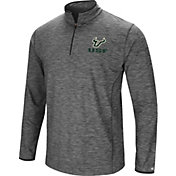 Colosseum Men's South Florida Bulls Grey Action Pass Quarter-Zip Shirt
