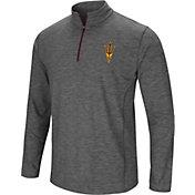 Colosseum Men's Arizona State Sun Devils Grey Action Pass Quarter-Zip Shirt
