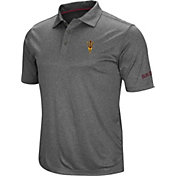 Colosseum Men's Arizona State Sun Devils Grey Cut Shot Polo