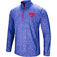 Colosseum Athletics Men's Southern Methodist Mustangs Blue Action Pass Quarter-Zip Shirt