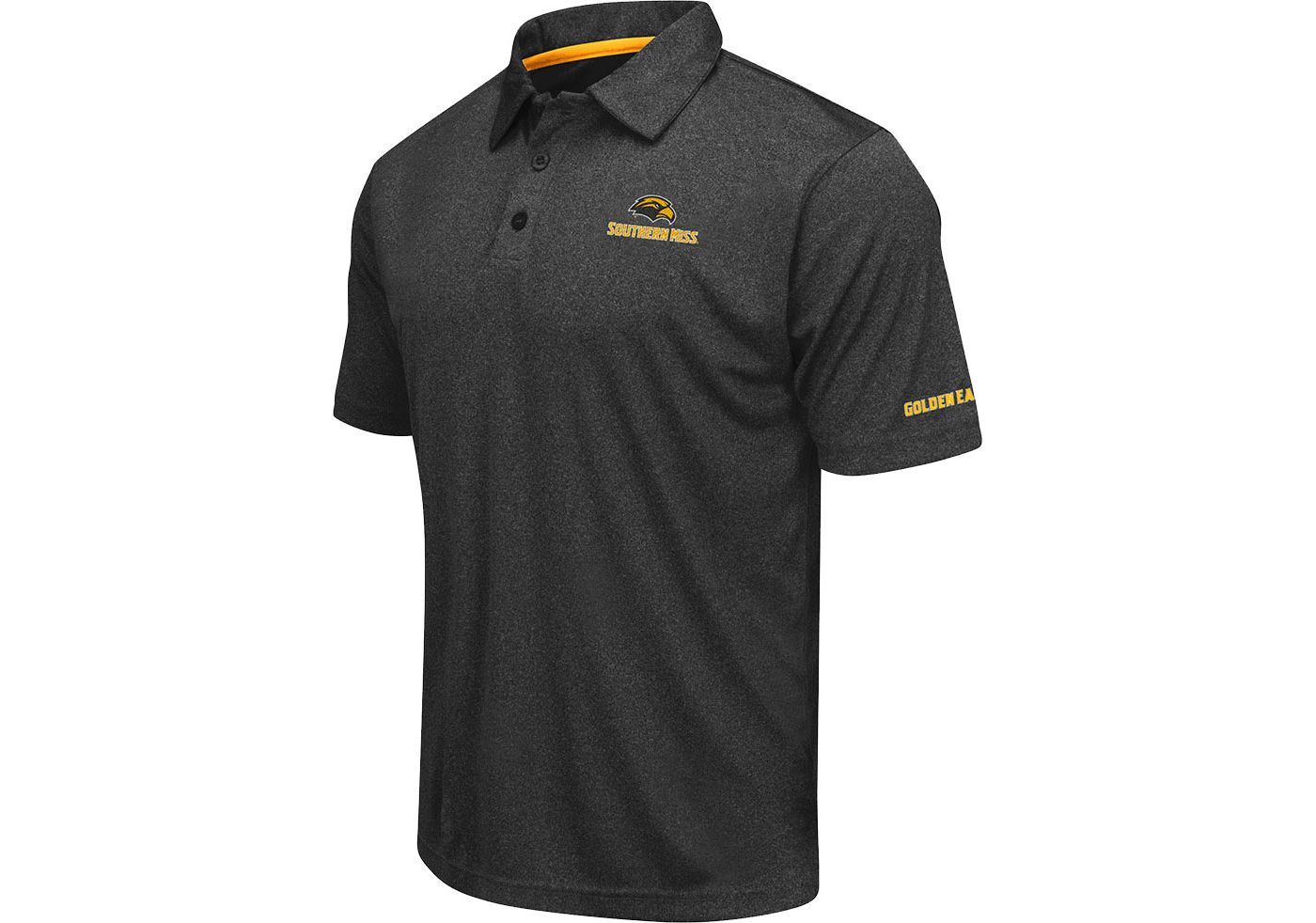 Colosseum Men's Southern Miss Golden Eagles Axis Black Polo