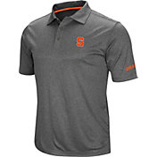 Colosseum Men's Syracuse Orange Grey Cut Shot Polo