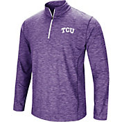 Colosseum Men's TCU Horned Frogs Purple Action Pass Quarter-Zip Shirt