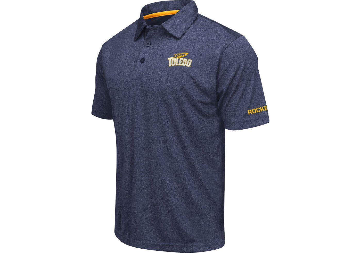 Colosseum Men's Toledo Rockets Midnight Blue  Axis Polo