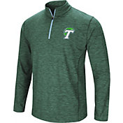 Colosseum Athletics Men's Tulane Green Wave Green Action Pass Quarter-Zip Shirt
