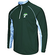 Colosseum Men's Tulane Green Wave Olive Airstream Quarter-Zip