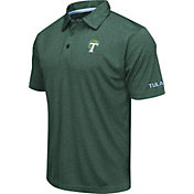 Colosseum Men's Tulane Green Wave Green Axis Polo