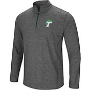 Colosseum Men's Tulane Green Wave Grey Action Pass Quarter-Zip Shirt