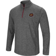 Colosseum Men's Temple Owls Grey Action Pass Quarter-Zip Shirt