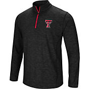 Colosseum Athletics Men's Texas Tech Red Raiders Action Pass Quarter-Zip Black Shirt