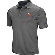 Colosseum Men's Virginia Cavaliers Grey Cut Shot Polo