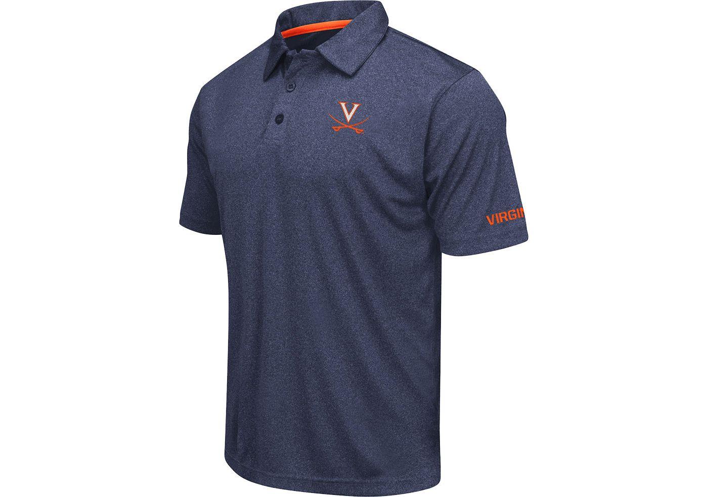 Colosseum Men's Virginia Cavaliers Blue Axis Polo