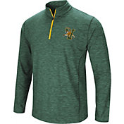 Colosseum Athletics Men's Vermont Catamounts Green Action Pass Quarter-Zip Shirt