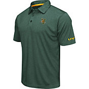 Colosseum Men's Vermont Catamounts Green Axis Polo
