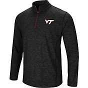 Colosseum Men's Virginia Tech Hokies Black Action Pass Quarter-Zip Shirt