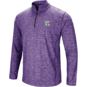 Colosseum Athletics Men's Weber State Wildcats Purple Action Pass Quarter-Zip Shirt
