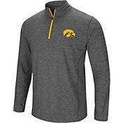 Colosseum Men's Iowa Hawkeyes Grey Action Pass Quarter-Zip Shirt