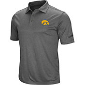 Colosseum Men's Iowa Hawkeyes Grey Cut Shot Polo