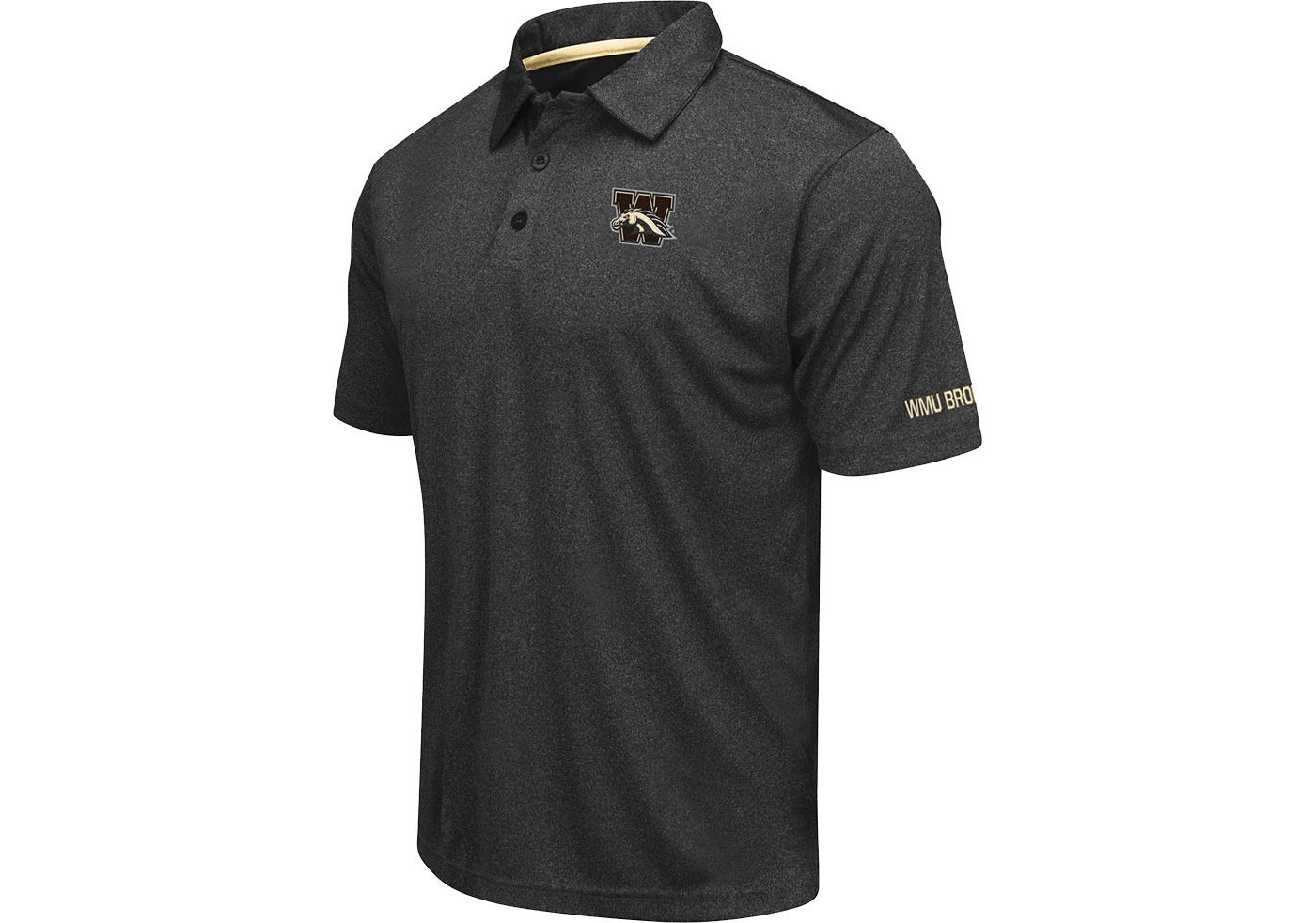 Colosseum Men's Western Michigan Broncos Axis Black Polo
