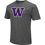 Colosseum Men's Washington Huskies Grey Dual Blend T-Shirt
