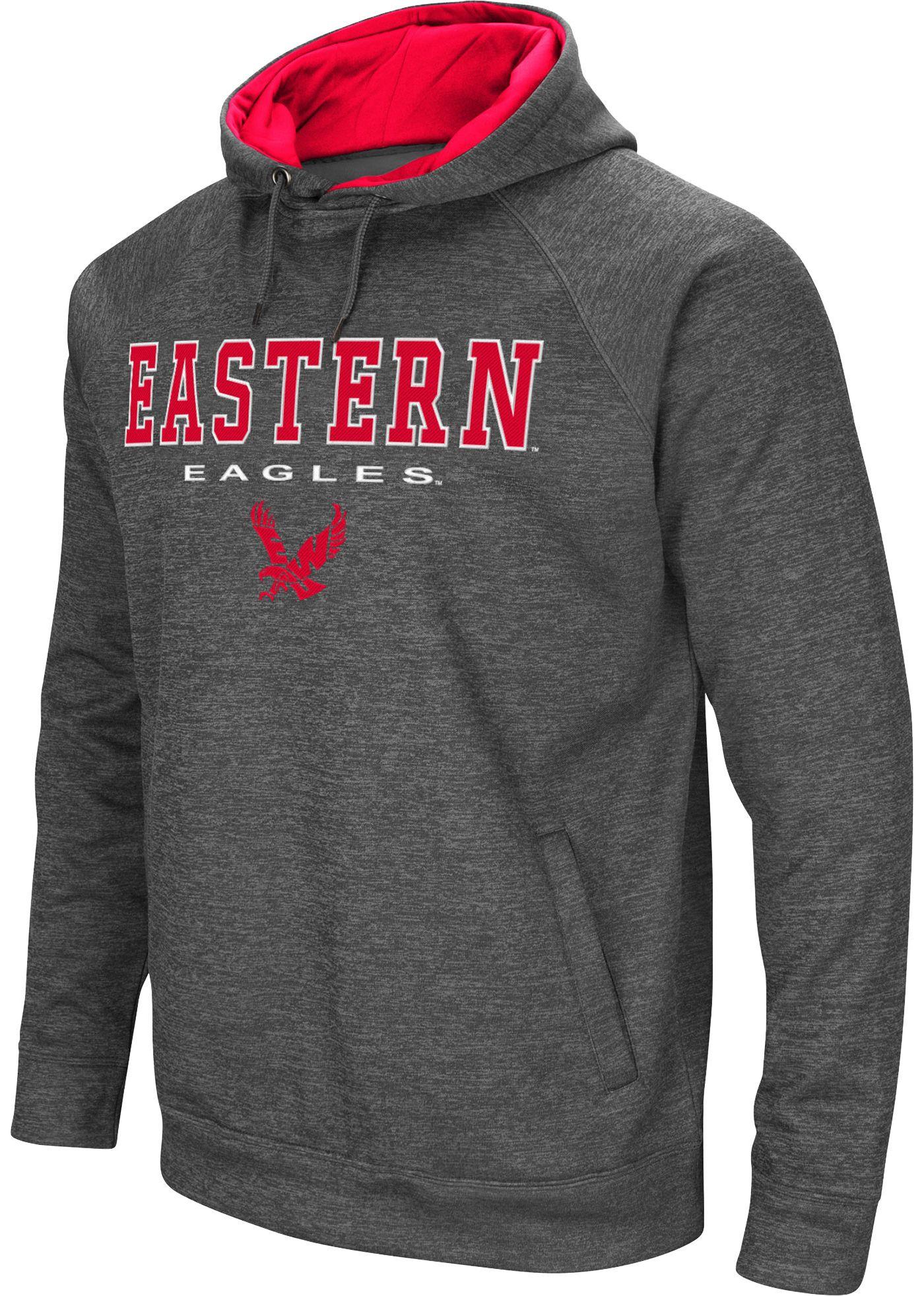 Colosseum Men's Eastern Washington Eagles Grey Fleece Hoodie