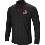 Colosseum Athletics Men's Washington State Cougars Action Pass Quarter-Zip Black Shirt