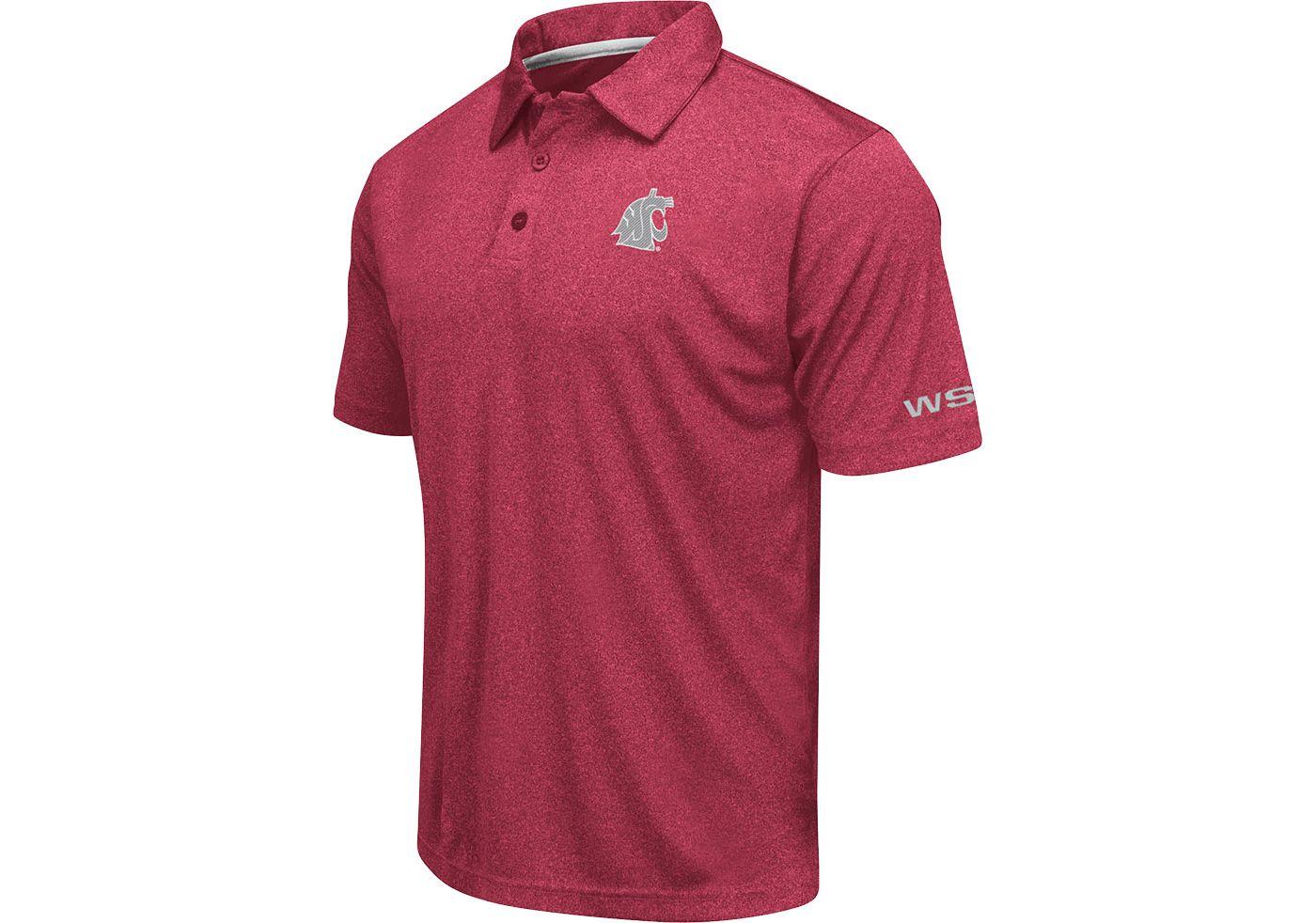 Colosseum Men's Washington State Cougars Crimson  Axis Polo