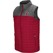 Colosseum Men's Washington State Cougars Crimson/Grey Amplitude Puff Vest