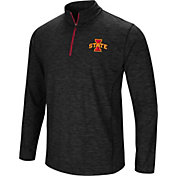 Colosseum Men's Iowa State Cyclones Black Action Pass Quarter-Zip Shirt