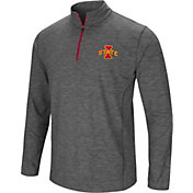 Colosseum Men's Iowa State Cyclones Grey Action Pass Quarter-Zip Shirt