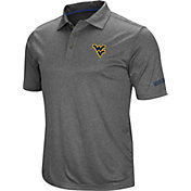 Colosseum Men's West Virginia Mountaineers Grey Cut Shot Polo