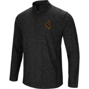 Colosseum Athletics Men's Wyoming Cowboys Action Pass Quarter-Zip Black Shirt