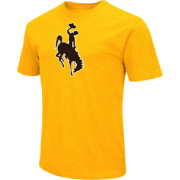 Colosseum Men's Wyoming Cowboys Gold Dual Blend T-Shirt