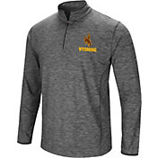 Colosseum Men's Wyoming Cowboys Grey Action Pass Quarter-Zip Shirt