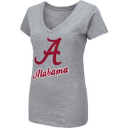 Colosseum Women's Alabama Crimson Tide Grey Dual Blend V-Neck T-Shirt