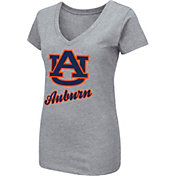 Colosseum Women's Auburn Tigers Grey Dual Blend V-Neck T-Shirt