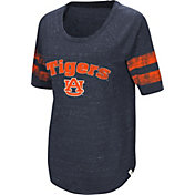 Colosseum Women's Auburn Tigers Blue Bean Babbitt Raglan T-Shirt