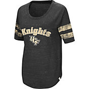Colosseum Women's UCF Knights Bean Babbitt Raglan Black T-Shirt