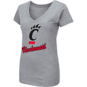 Colosseum Women's Cincinnati Bearcats Grey Dual Blend V-Neck T-Shirt