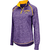 Colosseum Women's East Carolina Pirates Purple Bikram Quarter-Zip Top