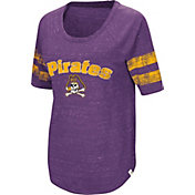 Colosseum Women's East Carolina Pirates Purple Bean Babbitt Raglan T-Shirt