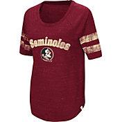 Colosseum Women's Florida State Seminoles Garnet Bean Babbitt Raglan T-Shirt