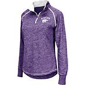 Colosseum Women's Kansas State Wildcats Purple Bikram Quarter-Zip Top