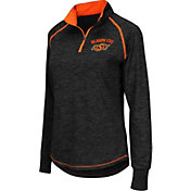Colosseum Women's Oklahoma State Cowboys Black Bikram Quarter-Zip Top