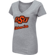 Colosseum Women's Oklahoma State Cowboys Grey Dual Blend V-Neck T-Shirt