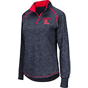 Colosseum Women's Ole Miss Rebels Blue Bikram Quarter-Zip Top
