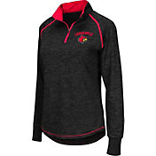 Colosseum Women's Louisville Cardinals Black Bikram Quarter-Zip Top