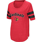 Colosseum Women's Louisville Cardinals Cardinal Red Bean Babbitt Raglan T-Shirt