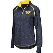 Colosseum Women's Michigan Wolverines Blue Bikram Quarter-Zip Top