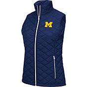 Colosseum Women's Michigan Wolverines Blue Elite Quilted Full-Zip Vest
